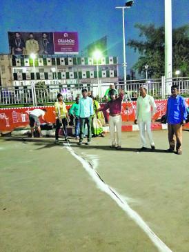 नागपुर के मुख्य रेलवे स्टेशन के सामने बनेगा 6 लेन ,होने लगी मार्किंग