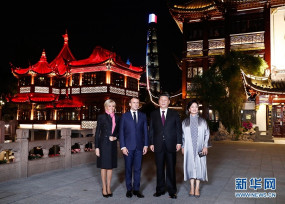 शंघाई: शी चिनफिंग से मिले फ्रांस के राष्ट्रपति इमेनुएल मैक्रॉन