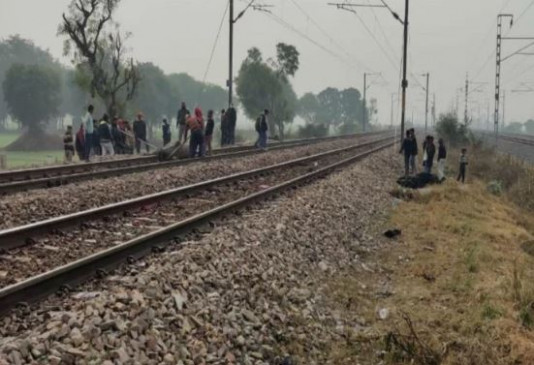 आगरा में हुआ बड़ा हादसा, ट्रेन की चपेट में आई 15 गायें