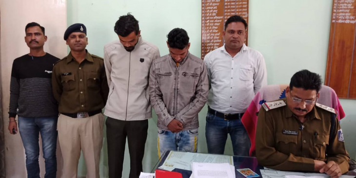 गवाही देने पहुंचे आरक्षक को धमका रहे थे आरोपी, पुलिस ने किया गिरफ्तार
