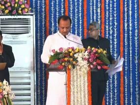 महाराष्ट्र : अजित पवार ने बनाया 38 दिन में दूसरी बार उपमुख्यमंत्री बनने का रिकार्ड