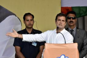भाजपा ने देश की अर्थव्यवस्था को गड्ढे में धकेल दिया : राहुल