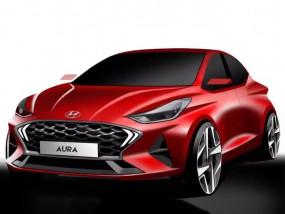 Hyundai Aura का स्कैच हुआ जारी, 19 दिसंबर को होगी लॉन्च