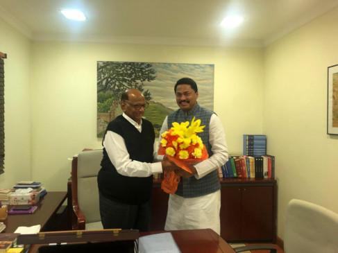 महाराष्ट्र विधानसभा अध्यक्ष नाना पटोले की हुई शरद पवार और बिरला से मुलाकात
