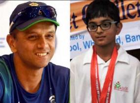 राहुल द्रविड की तरह उनका बेटा भी 'The Wall', पहले डबल सेंचुरी, फिर गेंदबाजी में दिखाया कमाल