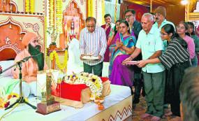 राम मंदिर का निर्माण अयोध्या में ही होना चाहिए - महामंडलेश्वर स्वामी शांतानंद