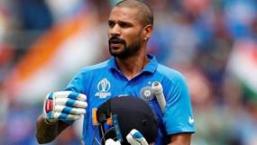धवन चोट के कारण वेस्टइंडीज के खिलाफ वनडे सीरीज से भी बाहर, मयंक अग्रवाल को मिला मौका