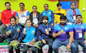 दक्षिण एशियाई खेल (कुश्ती) : कादयान, गुरशरणप्रीत ने जीते स्वर्ण