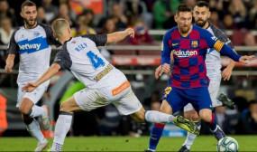 Spanish league : बार्सिलोना ने साल के अपने आखिरी मैच में आल्वेस को 4-1 से हराया