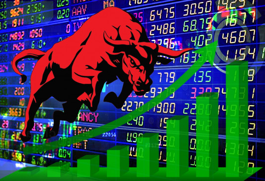 शेयर बाजार में तेजी का रुख