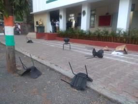 विधायक थाेपटे के समर्थकों ने कांग्रेस भवन में घुसकर की तोड़फोड़, मंत्रिमंडल में स्थान नमिलने से नाराजी