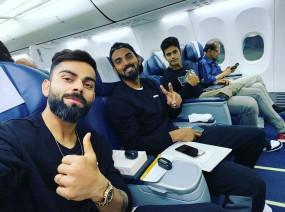 IND VS WI: पहले टी-20 मुकाबले के लिए हैदराबाद पहुंची टीम इंडिया, विराट ने ट्विटर पर शेयर की फ्लाइट सेल्फी
