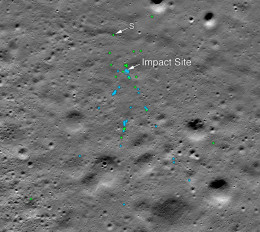 चंद्रयान-2: NASA ने ढूंढ निकाला विक्रम लैंडर का मलबा, तस्वीर आई सामने