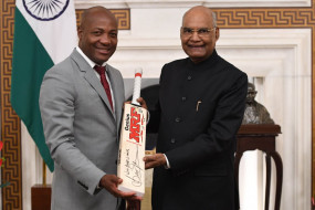 वेस्टइंडीज के दिग्गज खिलाड़ी ब्रायन लारा ने भारत के राष्ट्रपति रामनाथ कोविंद से की मुलाकात