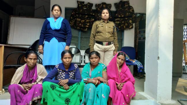 गांजा की तस्करी करने वाली 4 महिला, 1 युवती सहित 9 आरोपी पुलिस गिरफ्त में
