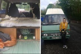 स्कॉटलैंड: बढ़ते कीराए से परेशान इस लड़की ने 35 साल पुरानी वैन को ही बनाया अपना घर