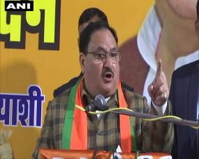 Delhi Election: भाजपा रैली की में कांग्रेस-AAP पर गरजे नड्डा और शाह, बोले- सिर्फ वोट के लिए राजनीति कर रहे दोनों