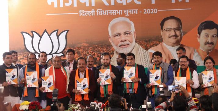 भाजपा संकल्प पत्र : 5 साल में 10 लाख युवाओं को देंगे रोजगार