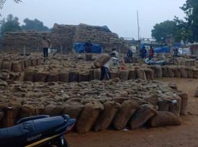 खरीदी केंद्रों में जमे किसान, 20 हजार क्विंटल से अधिक धान की अब तक नहीं हुई है खरीदी