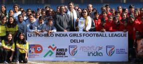 दिल्ली में लॉन्च हुई पहली यू-17 खेलो इंडिया गर्ल्स फुटबाल लीग