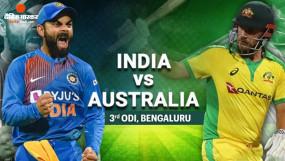 Ind vs Aus 3rd ODI : भारत ने ऑस्ट्रेलिया को 7 विकेट से हराया, सीरीज 2-1 से अपने नाम की, रोहित का शानदार शतक