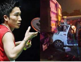 बैडमिंटन: केंटो मोमोता वैन दुर्घटना में घायल, ड्राइवर की मौत