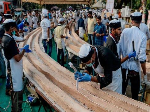 World Record: केरल में बनाया गया दुनिया का सबसे लंबा केक, गिनीज बुक में होगा दर्ज