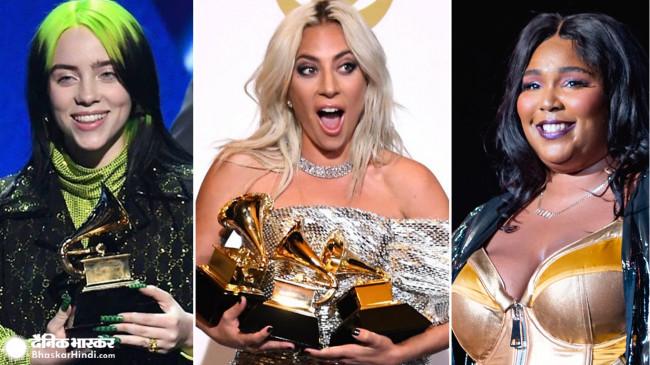 Grammy Awards 2020 : 18 साल की बिली को 5 ग्रैमी, लेडी गागा ने भी जीते दो अवॉर्ड, पढ़िए पूरी लिस्ट