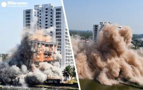 कोच्चि : चार वाटरफ्रंट हाईराइज अपार्टमेंट कॉम्प्लेक्स मलबे में तब्दील, देखें वीडियो