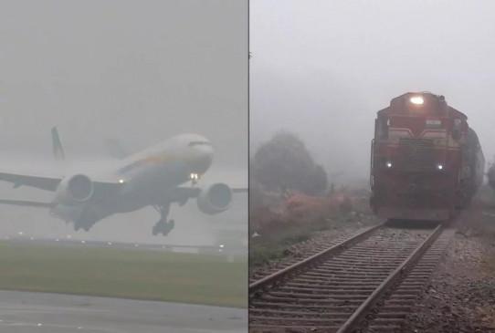 ट्रेनों और उड़ानों में देरी का सिलसिला जारी, यात्री हो रहे परेशान