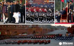 Beating The Retreat: बैंड की पारंपरिक धुनों पर तीनों सेनाओं ने किया मार्च, पहली बार हुआ वंदे मातरम गायन