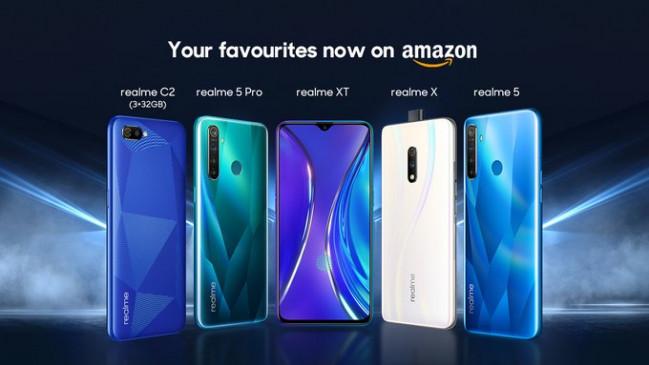 सुविधा: Realme के स्मार्टफोन्स अब Amazon पर होंगे उपलब्ध, कंपनी ने दी जानकारी