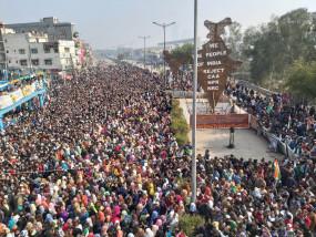 शाहीन बाग में गणतंत्र दिवस पर दावे के अनुरूप नहीं जुटी भीड़