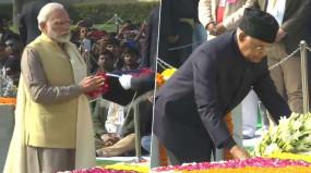 महात्मा गांधी की पुण्यतिथि पर राष्ट्रपति कोविंद और पीएम मोदी सहित विभिन्न नेताओं ने दी श्रद्धांजलि