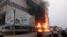 सावनेर में भीषण आग :बैंक ऑफ बड़ौदाकी शाखा का बड़ा नुकसान