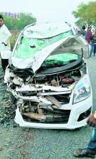 सड़क हादसे में 5 की मौत, बेकाबू वाहन ने उड़ाया