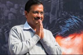 दिल्ली: अरविंद केजरीवाल के शपथ ग्रहण समारोह में आम आदमी पर फोकस
