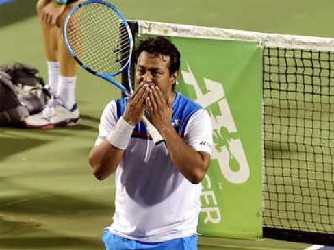 Bangalore open: पेस-मैथ्यू टू्र्नामेंट के दूसरे राउंड में, रोला-झांग को हराया