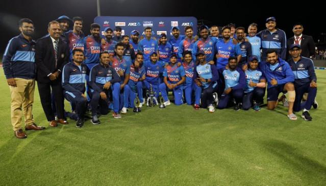 IND vs NZ 5th T-20: भारत का 5-0 से सीरीज पर कब्जा, आखिरी मैच 7 रनों से जीता