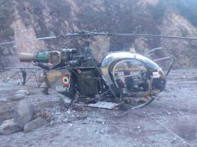 जम्मू-कश्मीर: सेना का हेलीकॉप्टर क्रैश, दोनों पायलट सुरक्षित