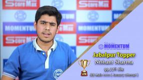 JEE Mains Result 2020: Momentum Academy के निशांत शर्मा ने जबलपुर सिटी में किया टॉप, हासिल किए 99.77 परसेंटाइल