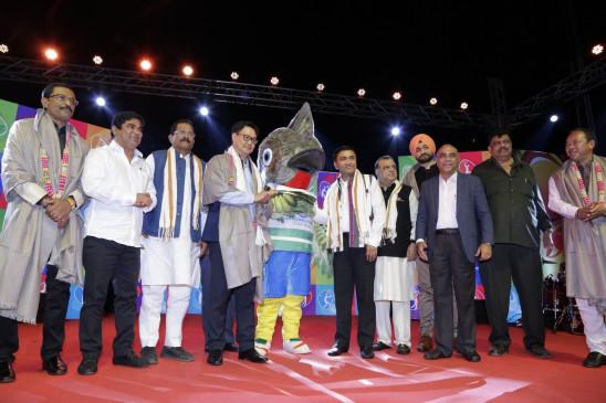 राष्ट्रीय खेल के लांच पर शुभंकर रुबिगुला ने जीता लोगों का दिल