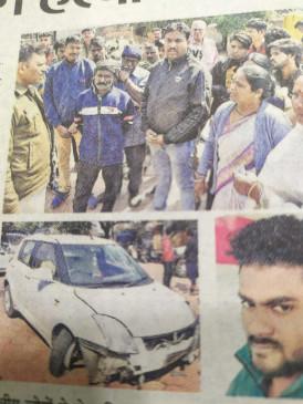 नशे में कार चला रही महिला पर गैर इरादतन हत्या का मामला - राहगीर की हुई थी मौत