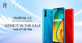 सेल: Realme C3 को आज फिर खरीदने का मौका, जानें कीमत और ऑफर्स