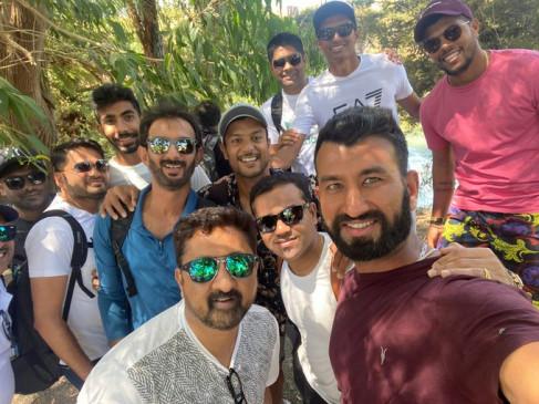 NZ VS IND: टेस्ट सीरीज से पहले टीम इंडिया ने ब्लू स्प्रिंग में किया एन्जॉय, BCCI ने ट्विटर पर शेयर की फोटो