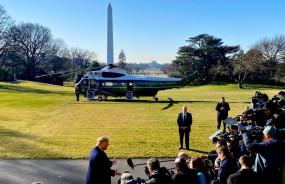 Trump India Visit: भारत के लिए रवाना हुए ट्रंप, सुबह करीब साढ़े ग्यारह बजे पहुचेंगे अहमदाबाद