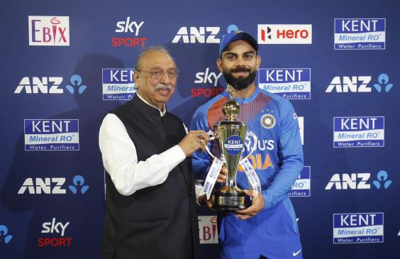 IND VS NZ: सीरीज 5-0 से जीतने के बाद विराट बोले- हमारी कोशिश कामयाबी में बदली