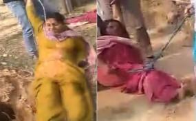 West Bengal: महिला टीचर और बहन को रस्सी बांधकर घसीटा गया, वीडियो वायरल
