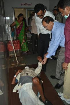 बस-ट्रक भिड़ंत में 2 यात्रियों की मौत, ड्राइवर जबलपुर रेफर