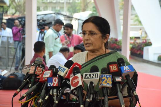 एनसीपी विधायक विद्या चव्हाण के खिलाफ भाजपा का प्रदर्शन